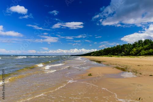 The Beautiful Sandy Beach On Baltic Sea Narva Joesuu Estonia