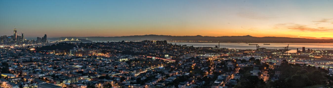 San Francisco Bay Area Sunrise Panorama