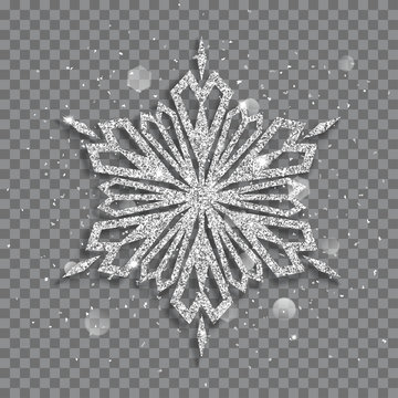 Big shiny Christmas snowflake