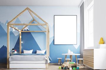 Kid s bedroom interior, poster