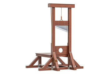 guillotine, 3D rendering