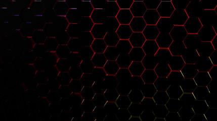 Hexagon background - 3d Rendered high resolution wallpaper