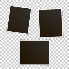 Vector image set of blank photos