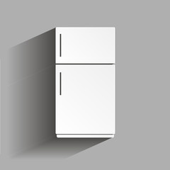 Vector icon of a refrigerator with shadow design. Home Appliances
