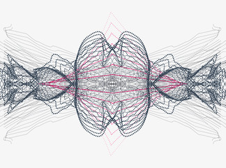 abstract particle shapes