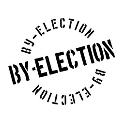 By-Election rubber stamp. Grunge design with dust scratches. Effects can be easily removed for a clean, crisp look. Color is easily changed.