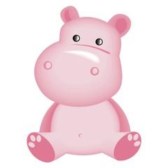 pink hippopotam