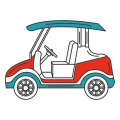 golf cart isolated icon vector illustration design
