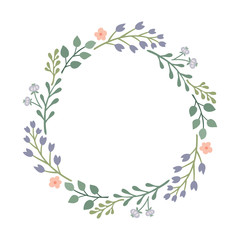 Wreath of wild flowers.