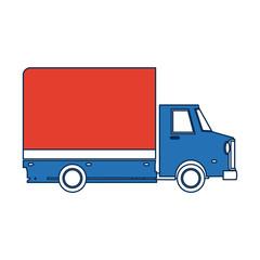 delivery truck transport cargo business vector illustration