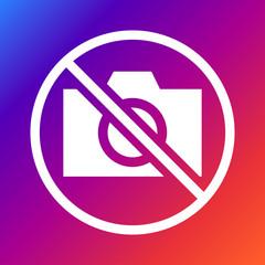 No camera sign vector