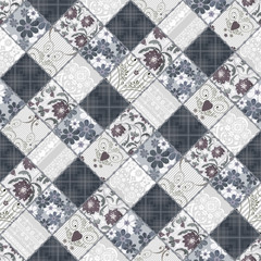 Seamless patchwork style pattern