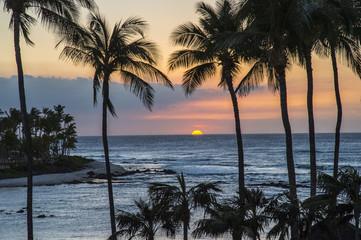Waikoloa resort sunset, Hawaii island
