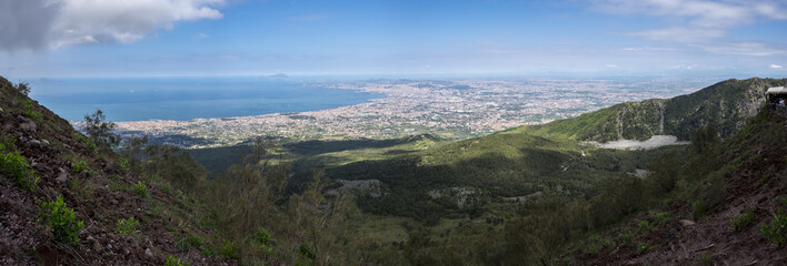 Napoli panorama from the top of Vesuvius