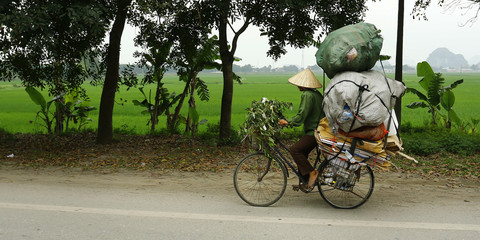 seller in bicycle