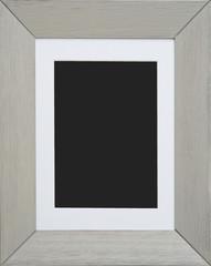empty cream wood photo frame
