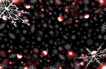 красивый зимний фон из белых снежинок на черном фоне