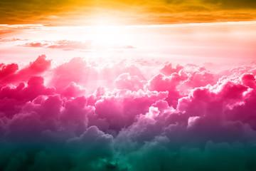Fotobehang - Beautiful blue sky background