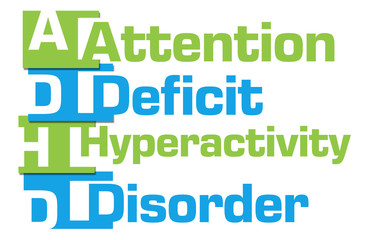 ADHD - Attention Deficit Hyperactivity Disorder Green Blue Stripes