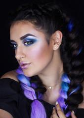 Professional makeup for brunette