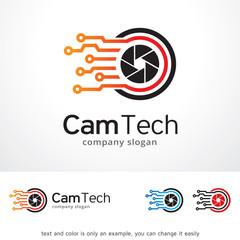 Camera Tech Logo Template Design Vector, Emblem, Design Concept, Creative Symbol, Icon