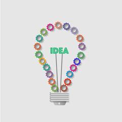 Lightbulb creative concept.