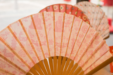 Japanese Hand Fan - paper and wood