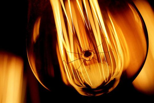 Illustration photo of a tungsten lightbulb