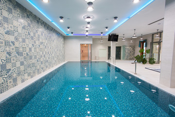 Big swimming pool in wellness section
