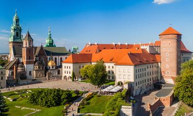Fotobehang Krakau Wawel castle in Krakow, Poland