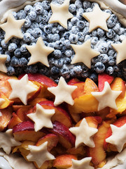 A pie to America's Independence Day. President's day concept
