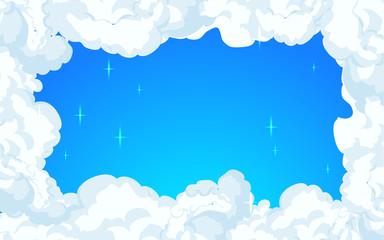 clouds design over sky background vector illustration