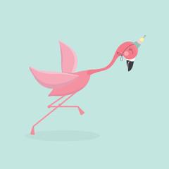 Cute cartoon flamingo.