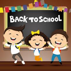 Back to school with school children.