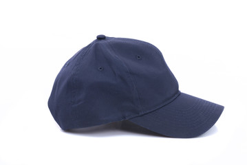 Blue cap isolated
