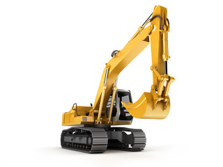 Hydraulic Excavator. Front view