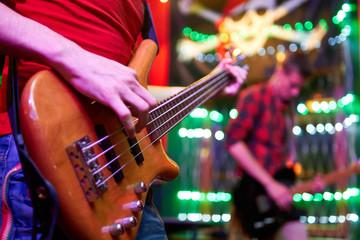 Guitar in man's hands