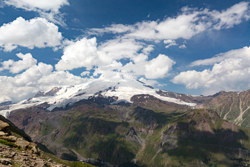 Colorful views of the highest mountain in Russia and Europe - mount Elbrus