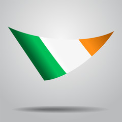 Irish flag background. Vector illustration.