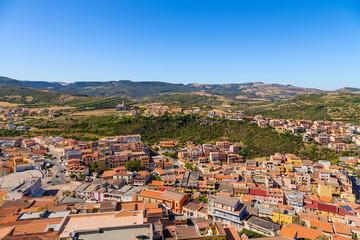 Castelsardo, Italy. Bird's eye view of the city