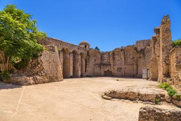 Alghero, Sardinia, Italy. Ruins of the fortress