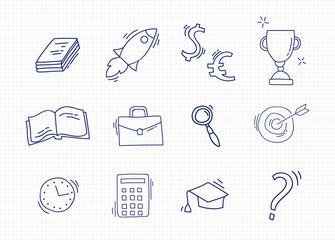 Set of Hand Drawn School icons.