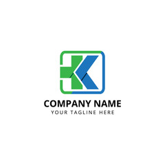 Medical logo abstract, K letter symbol icon