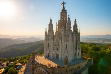 Autocollant pour porte Barcelona Iglesia del Tibidabo