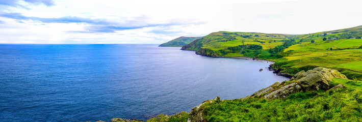 Causeway Coastal Route. Northern Ireland to your air by car. Torr Head, Co. Antrim.