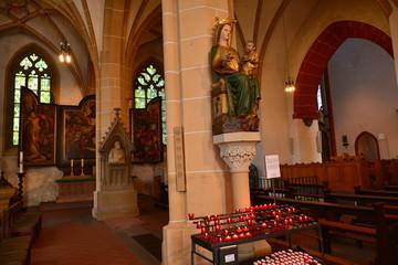 Innenansicht der Basilika St. Martin (Bingen)