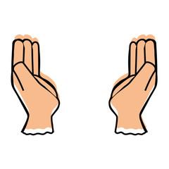 Human hands symbol