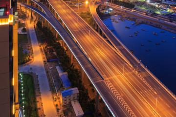 Xiamen Xinglin Bridge At Night