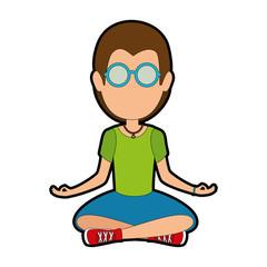 Hippie man cartoon