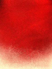 red grunge background with frosty cream or off white grungy bottom border, elegant fancy backdrop design